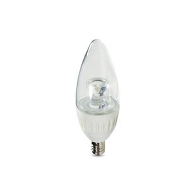 Contour Series Candle Warm White 2700K LED Bulb, Replaces 40W