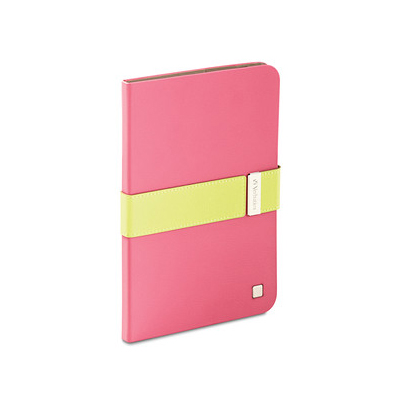 Folio Signature Case, Pink/Lime Green for iPad mini with Retina display