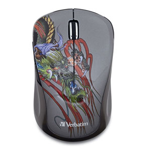 Wireless Notebook Multi-Trac Blue LED MouseDragon