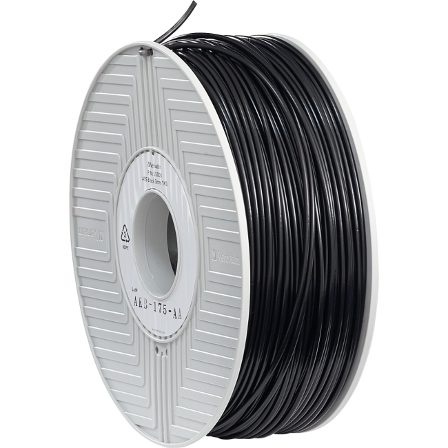 Verbatim, ABS 3D Filament 3mm, 55008,1kg Reel, Black