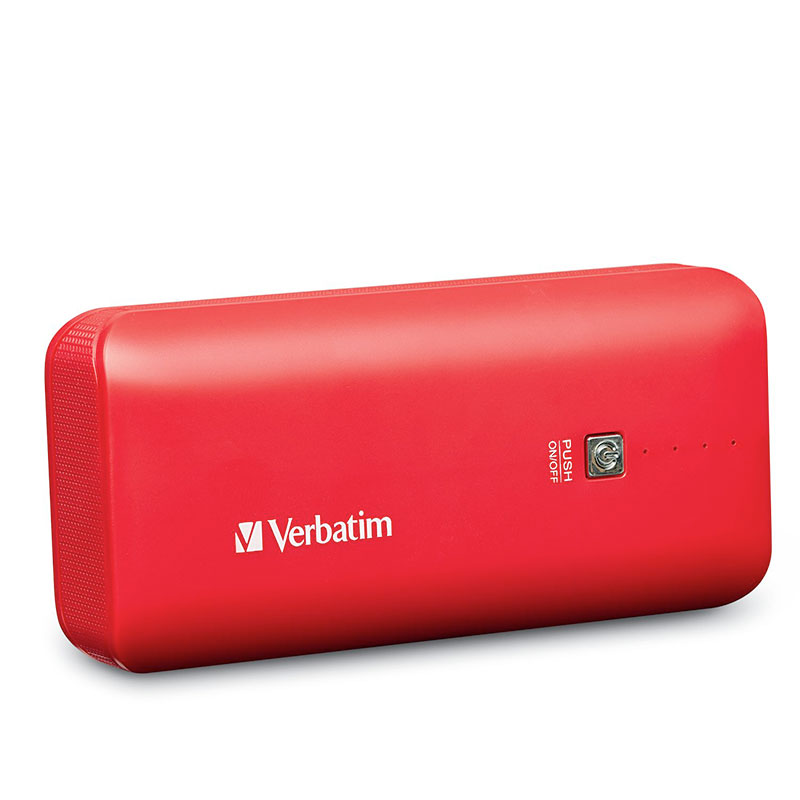 Verbatim Portable Power Pack, 99379, USB,4400mAh, Red