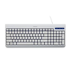 Verbatim Corded USB Keyboard, White