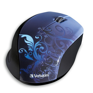 Wireless Optical Design Mouse - Blue